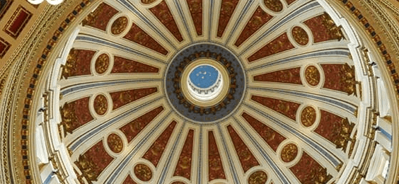 The interior of the Pennsylvania Capitol Dome, as depicted on the Dept. of State's election results page. (Source: Pa.gov)