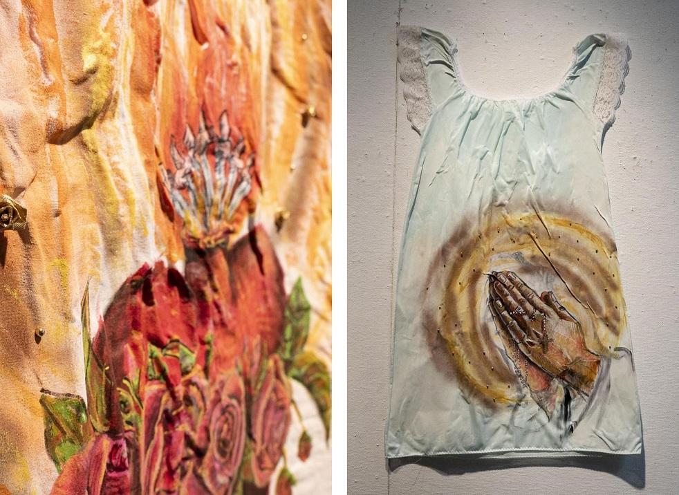 Diosas 1 and Diosas 2, artworks by Salina Almanzar (Source: Global Shapers Lancaster Hub)
