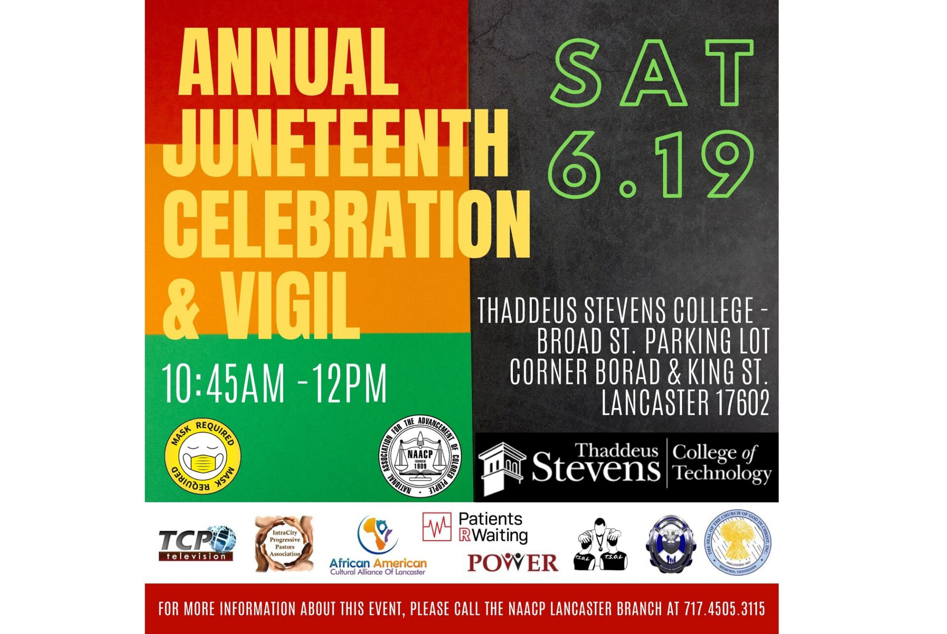 Lancaster NAACP to host Juneteenth vigil, more