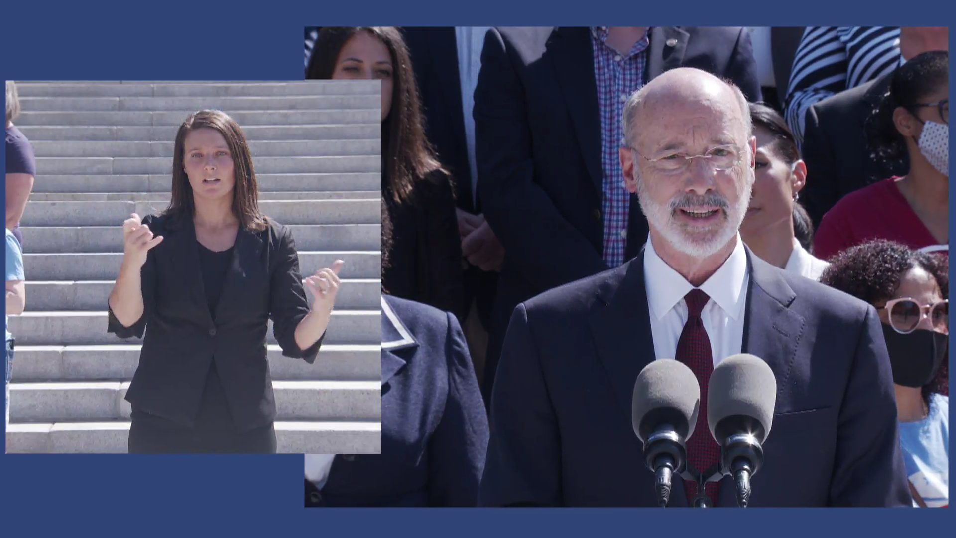 Gov. Tom Wolf speaks about education funding during a media conference at the state Capitol on Wednesday, June 30, 2021. (Source: Pa.gov)