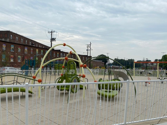 The playground at Culliton Park in Lancaster city. (Photo: Olivia Smucker)