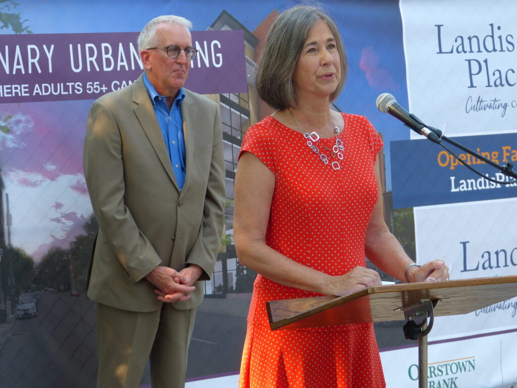 Bill Hartman and Hilda Shirk, co-chairs, City Vision Campaign