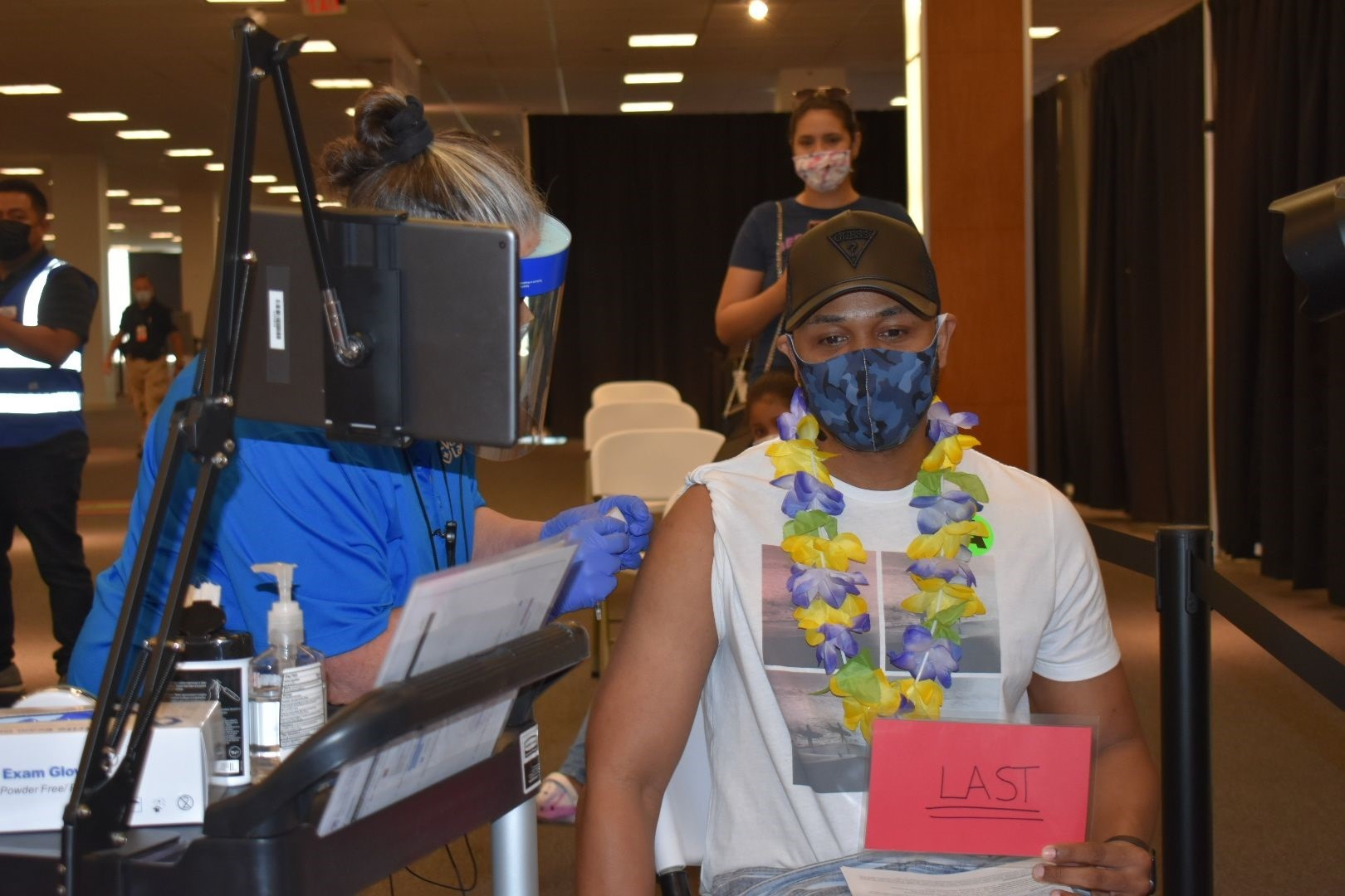 Gregory Picart received the last Covid-19 vaccine dose administered at the Vaccinate Lancaster Community Vaccination Center on Wednesday, June 30, 2021. (Source: Vaccinate Lancaster Coalition)