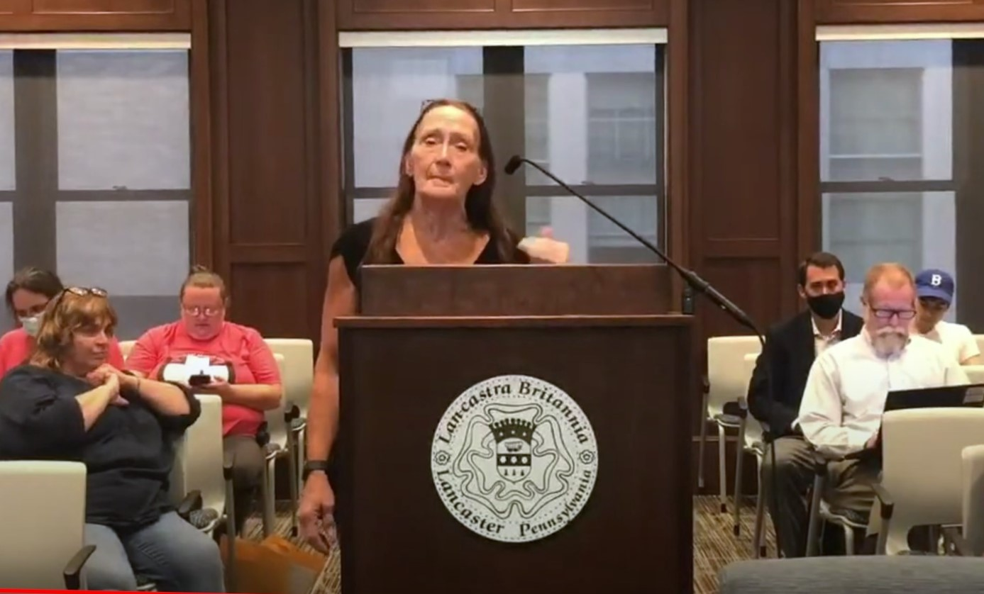 Michelle Ulearey speaks to Lancaster City Council on Tuesday, July 27, 2021. (Source: City of Lancaster)