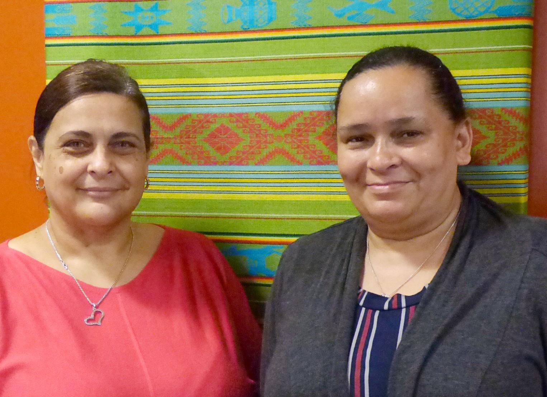 Career Navigator Marisol Sanchez, left, and Employment Specialist Nancy Alvelo, of Tec Centro. (Photo: Tim Stuhldreher)