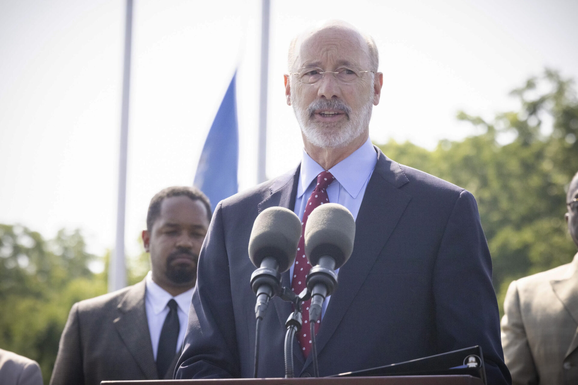 Gov. Tom Wolf speaks about Pennsylvania's police misconduct database at the Municipal Police Officers Education & Training Commission in Harrisburg on Friday, July 16, 2021. (Source: PA.gov)