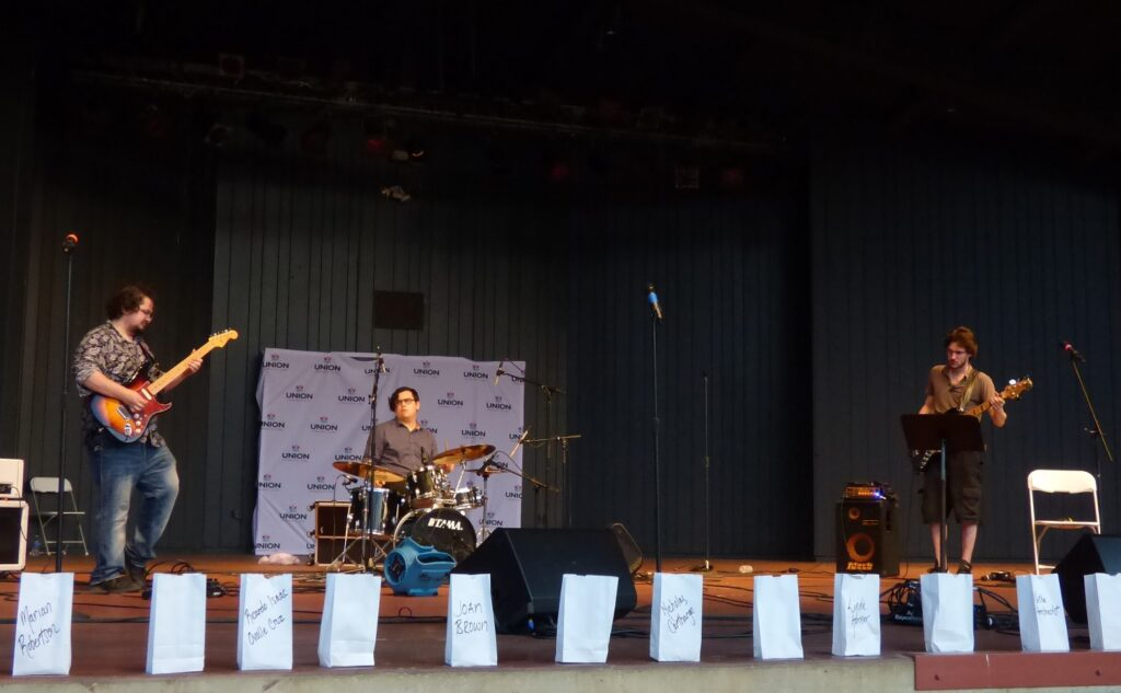 """The Anthony Pieruccini Trio performs at """"A Day of Healing"""" at Longs Park on Thursday, Aug. 12, 2021. (Photo: Tim Stuhldreher)"""