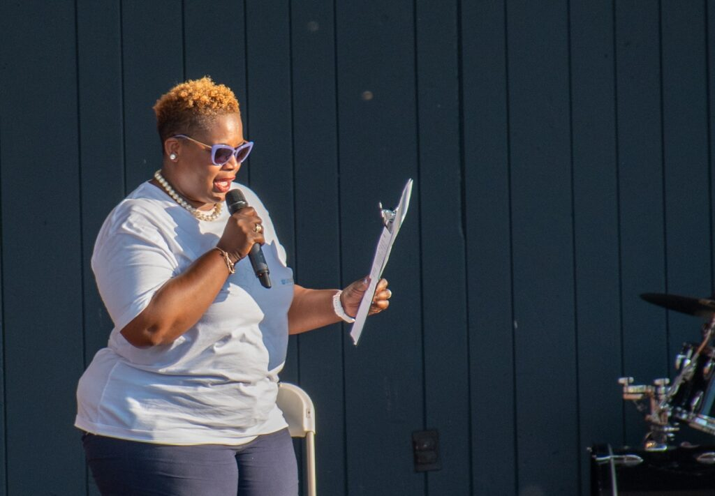 A Day of Healing's Master of Ceremonies Willonda McCloud (Photo: Kevin Ressler)