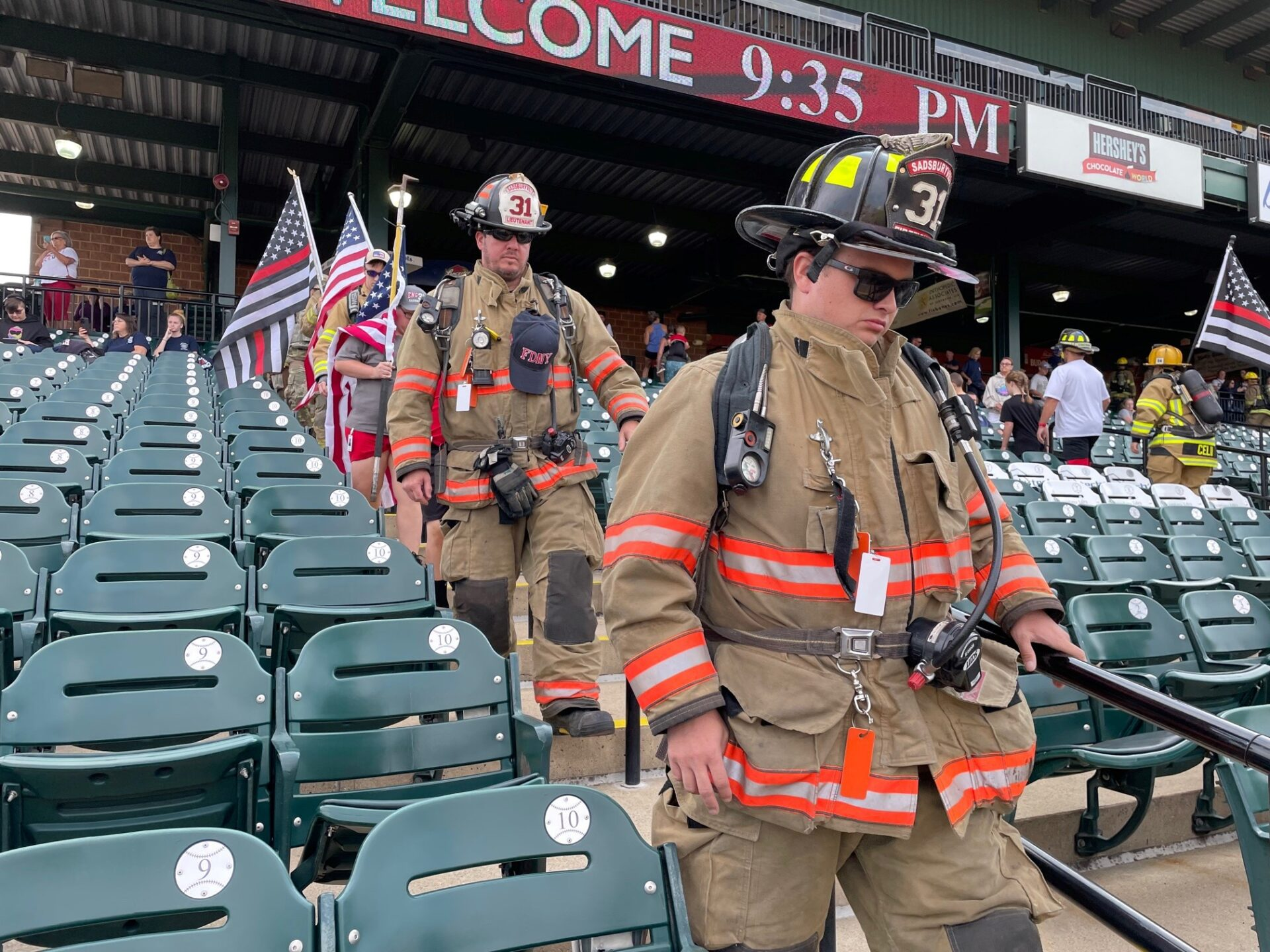 Firefighters take part in the 9/11 Stair Climb at Clipper Magazine Stadium on Sunday, Sept. 12, 2021. (Photo: Kyle Gamble)