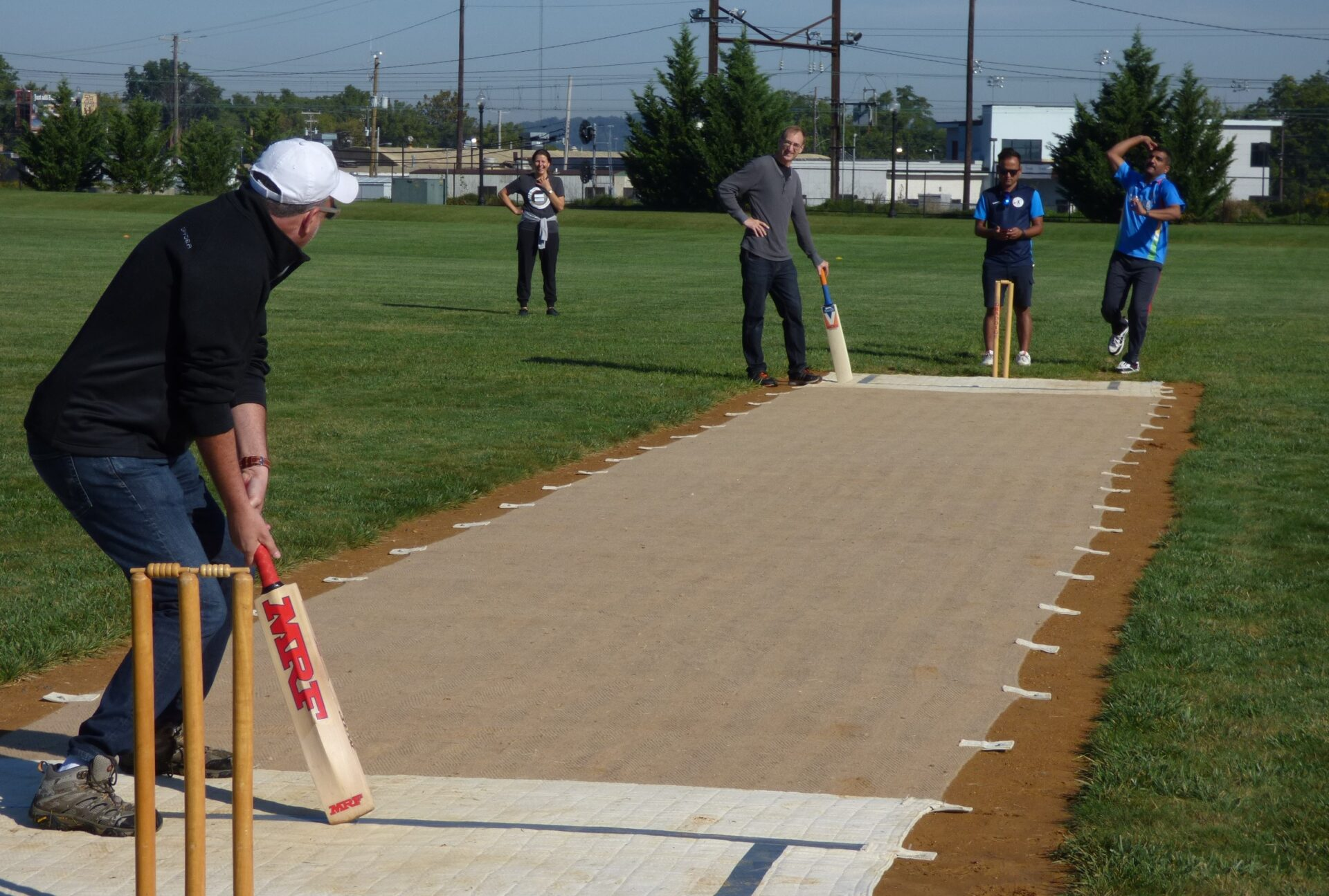 Club, community welcome Lancaster's first cricket pitch