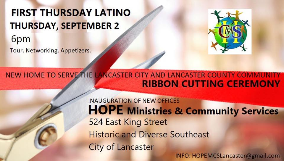 First Thursday Latino to hold ribbon cutting, tours for new HOPE Ministries offices