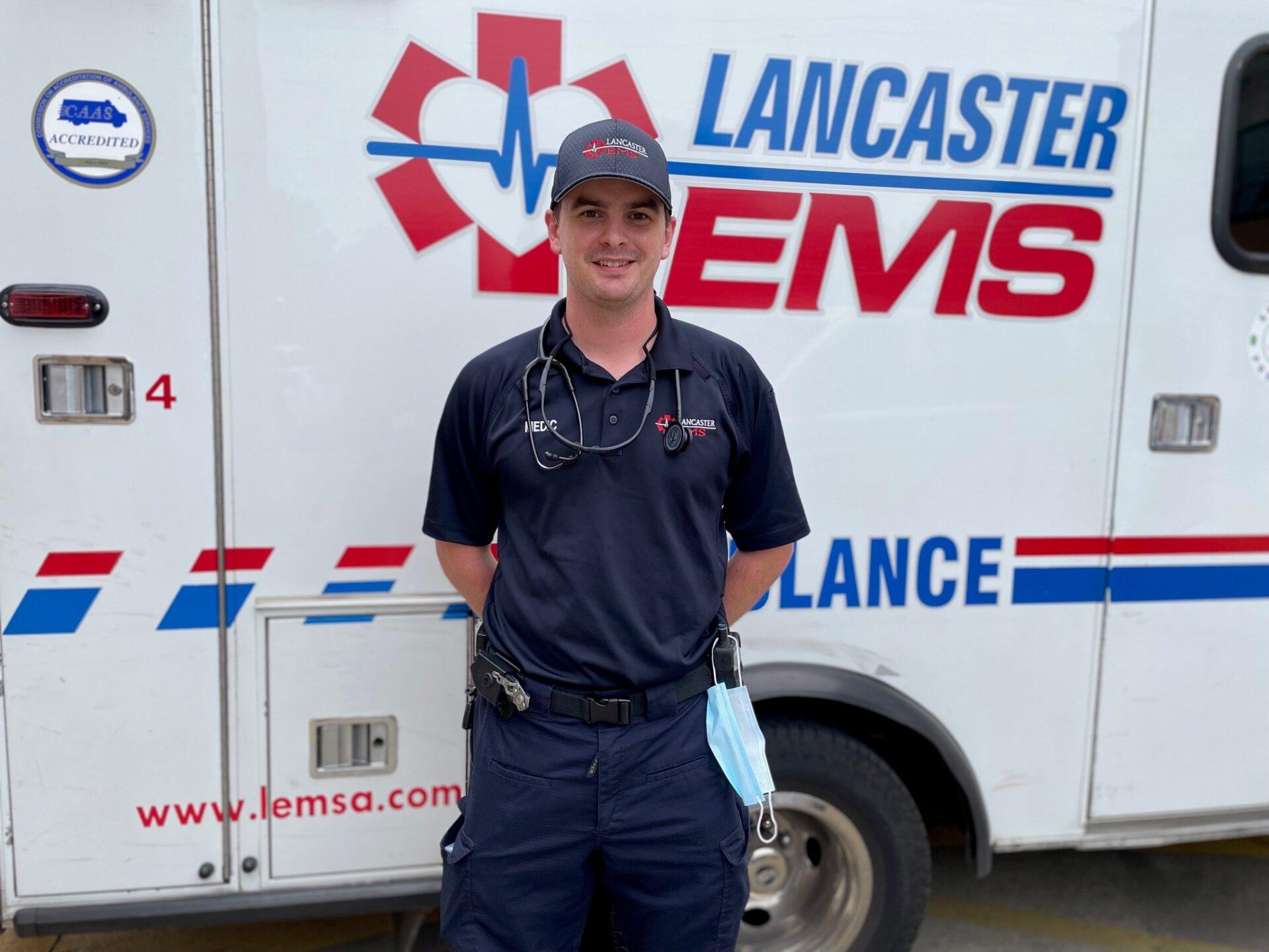 Lancaster EMS Paramedic John McCafferty. (Photo: Kyle Gamble)