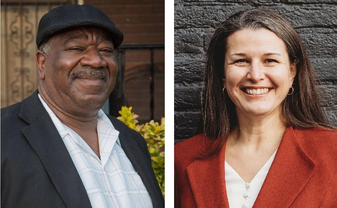 Businessman Willie E. Shell Sr., left, and Lancaster Mayor Danene Sorace. (Source: Provided)